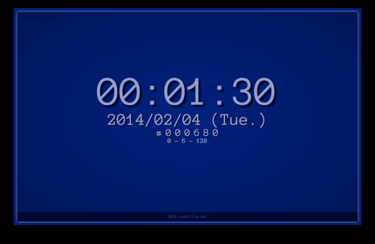 何万番煎じかわからない色時計 - 2014/02/04版
